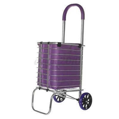 2 Wheels Folding Shopping Cart Basket W Wheels For Laundry Grocery Travel Us