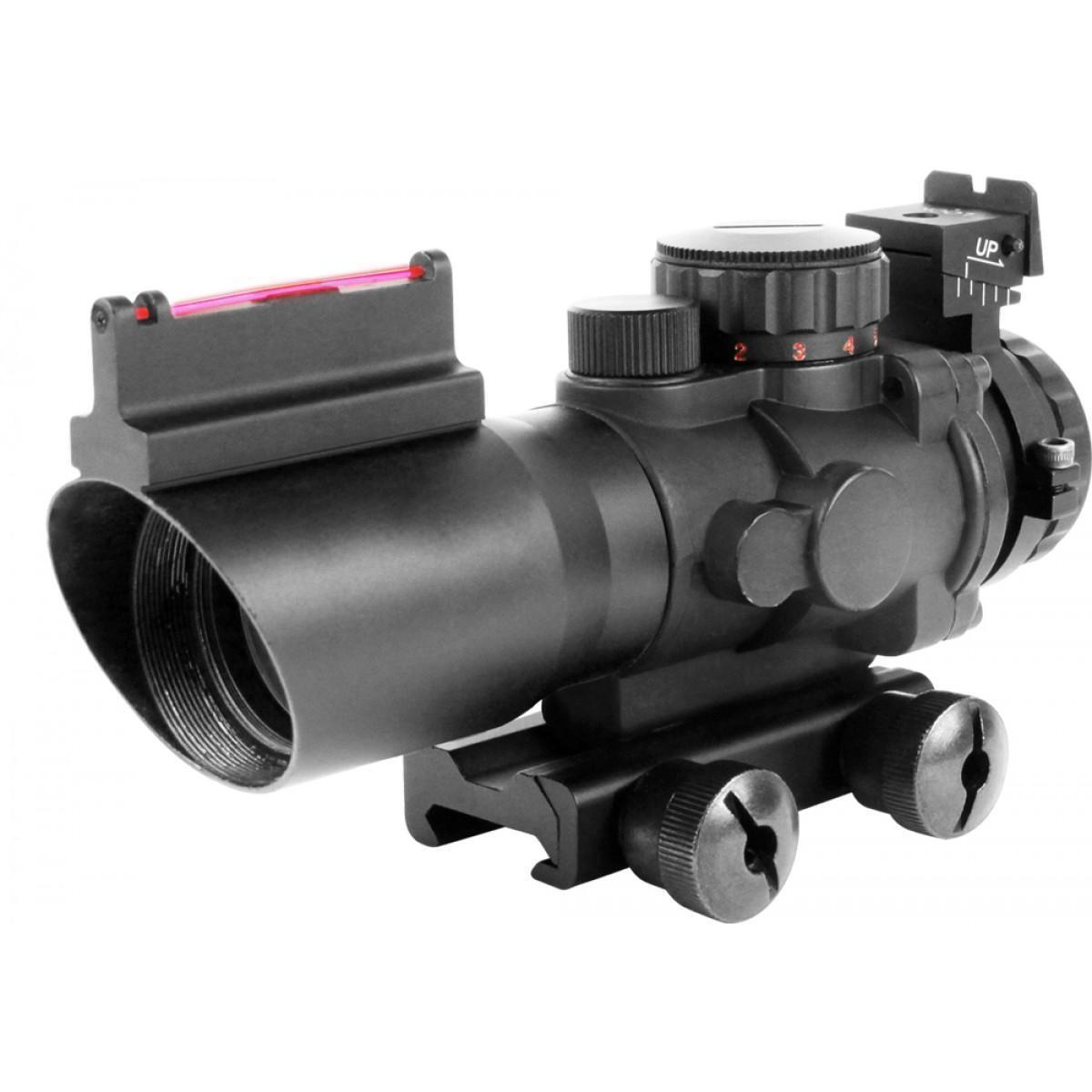 Aim Sports RECON 4X32mm Scope with Fiber Optic BUIS & Rapid