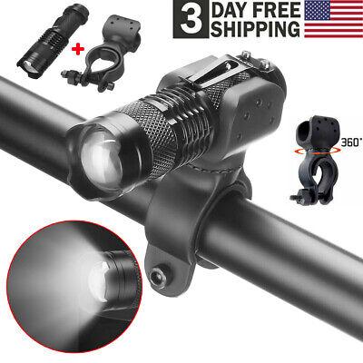 5Pcs 360 Degree Bicycle Swivel LED Flashlight Mount Holder Torch Clip Clamp US