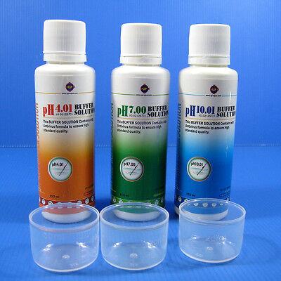Calibration Fluid Set - Aquarium PH 4.01/7.0/10.01 Buffer Solution SET 150ml Calibration Fluids PH Meter