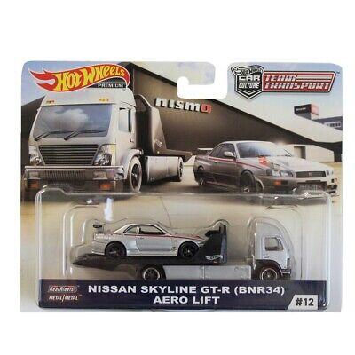 Hot Wheels 2019 Team Transport - Nissan Skyline GT-R (BNR34) & Aero Lift
