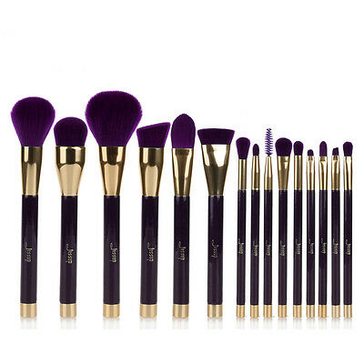 Jessup-15Pcs-Darkviolet-Makeup-Brushes-Cosmetic--Foundation-Make-Up-Brush-Set-US