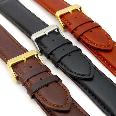 ('Sorrento' Italian Padded Calf Leather XL Extra Long Watch Strap Band C017)