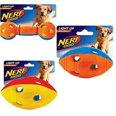 NERF Dog Action LED Football S und M, Hantel, Apportierspielzeug, Hundespielzeug ()