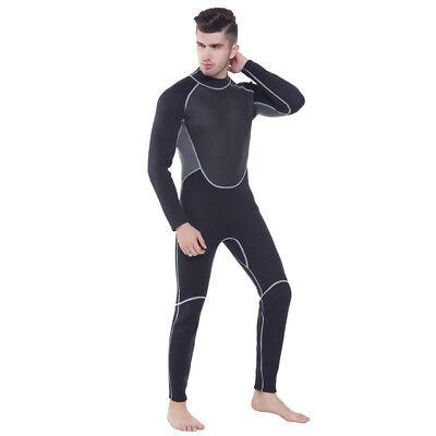 - Men's 3MM Neoprene Back Zip Wetsuit Surf Snorkel Wakeboard SCUBA Diving Fullsuit