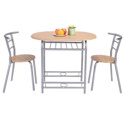 3 PCS Table Chairs Set Kitchen Furniture Pub Home Restaurant Dining Set