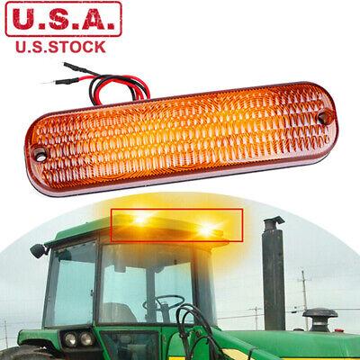 1pc Amber Led Cab Roof Warning Flashing Light Bar For John Deere Tractors 3150