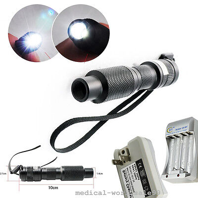New Mini Led Cold Light Source Endoscope 10w Bulb Lamp With Battery Kit Lab