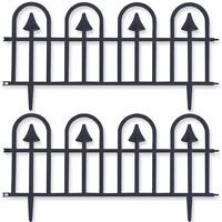 Black Gothic Garden Fencing Packs Grass/flowerbed Edging Panels Wall Upto 7.2m - roots & shoots - ebay.co.uk