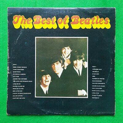 The Best of Beatles 2 LPs, unique korea vinyl lp Vintage LP VG / VG+ to EX-