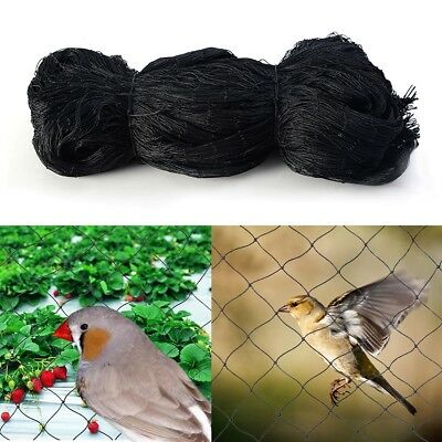50x50 Anti Bird Aviary Netting Poultry Garden Pond 2x2 Square Mesh Net Black