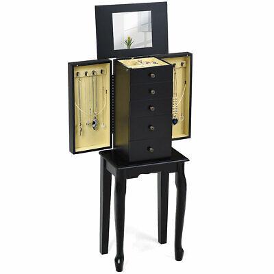 Jewelry Cabinet Armoire Storage Box Chest Standing Organizer