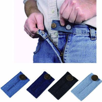 Women men Jeans Pants Waist Extender Strap Extension  Belt Adding 2 Button Slots