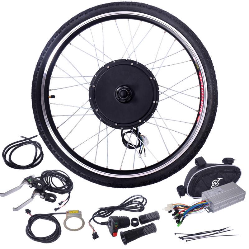"48V 1000W Ebike Front Wheel 26"" Electric Bicycle Motor Conversion Kit Motor Hub"