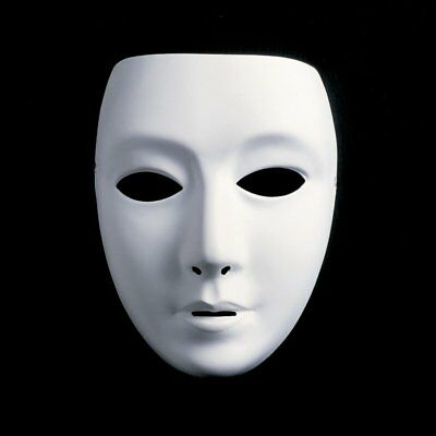 Plastic White Face Paintable Mask for Fancy Dress Masquerade Party US