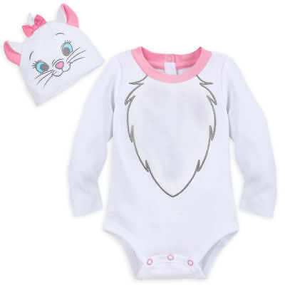 NWT Disney Store Marie Baby Costume Bodysuit Set All Sizes Cat Kitty - Infant Kitty Costume