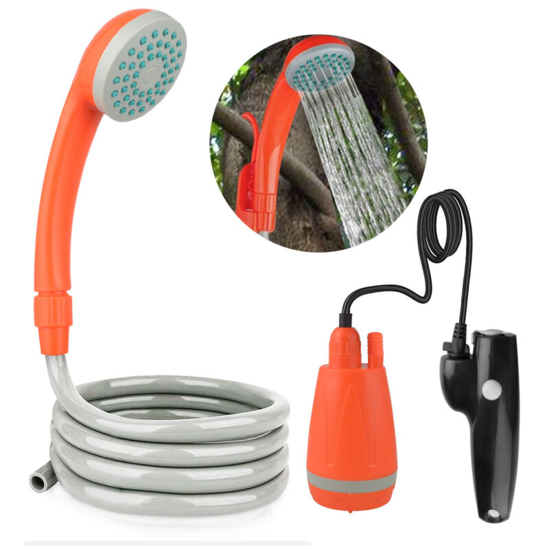 Outdoor Portable Rechargeable Camping Shower Head Shower Pump For Travel Hiking