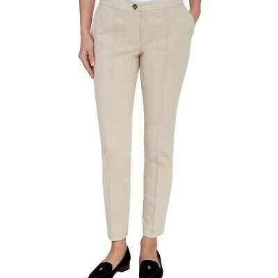 TOMMY HILFIGER NEW Women's Beige Slim-leg Ponte-knit Dress Pants 14 TEDO