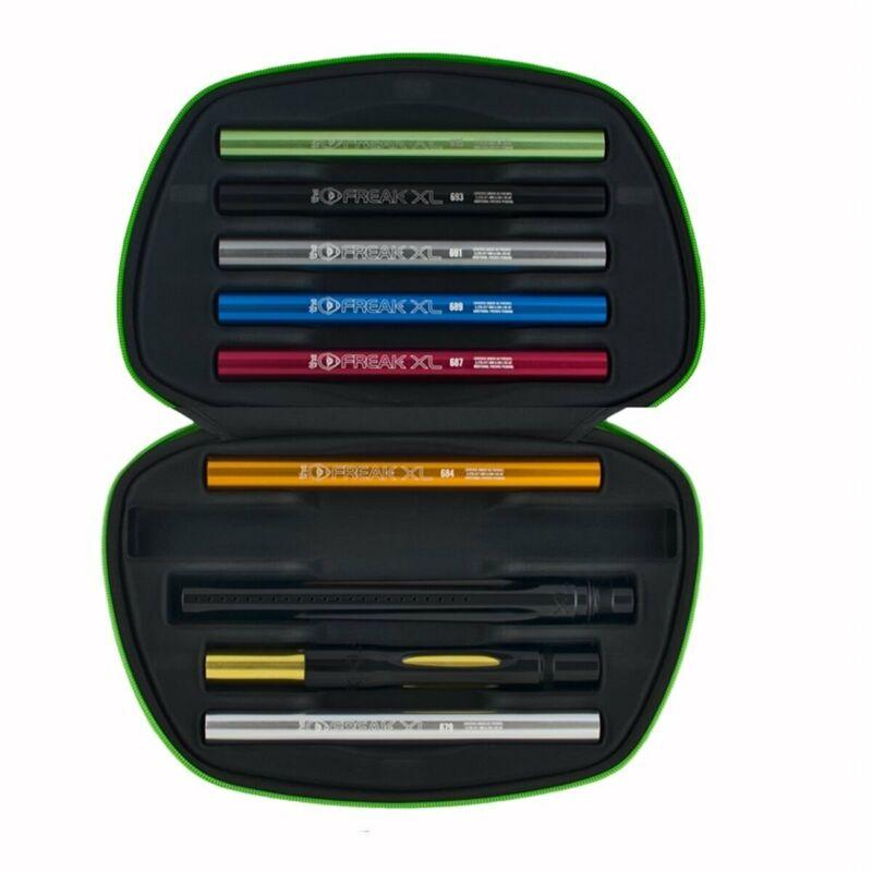 """GOG FREAK XL Paintball Barrel Kit COCKER THREAD 8 Inserts + Back + 14"""" Black Tip"""