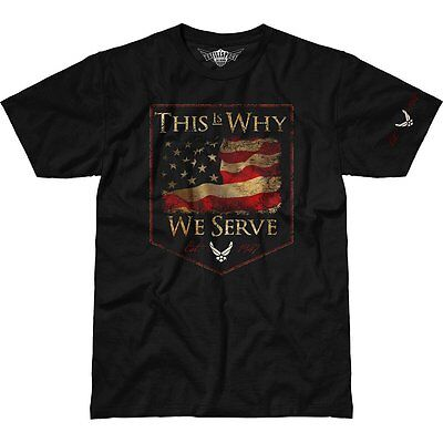 Us Air Force This Is Why We Serve 1775 Mens 7 62 Design T Shirt Battlespace Blk