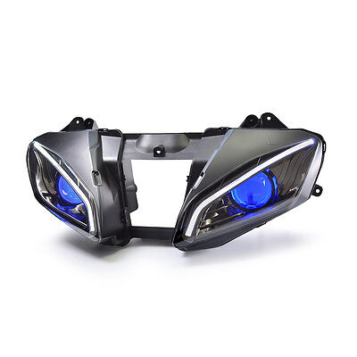 KT LED DRL HID Projector Headlight Assembly for Yamaha YZF R6 2006 2007 Blue