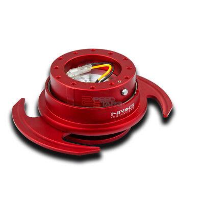 NRG CAR/TRUCK STEERING WHEEL LOCK QUICK RELEASE ADAPTOR GEN 3.0 RED BODY+RING