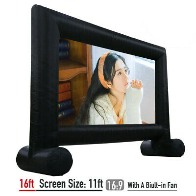 16ft Inflatable Movie Screen Outdoor Home Movie Screen With Build-in Blower USA