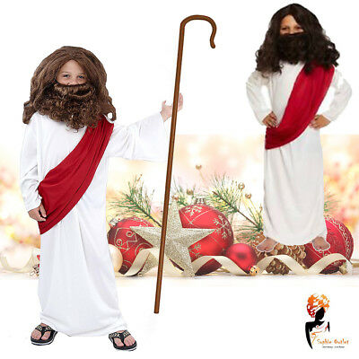 Children's Joseph Jesus Christmas Fancy Dress Costume Outfit Robe Nativity Play