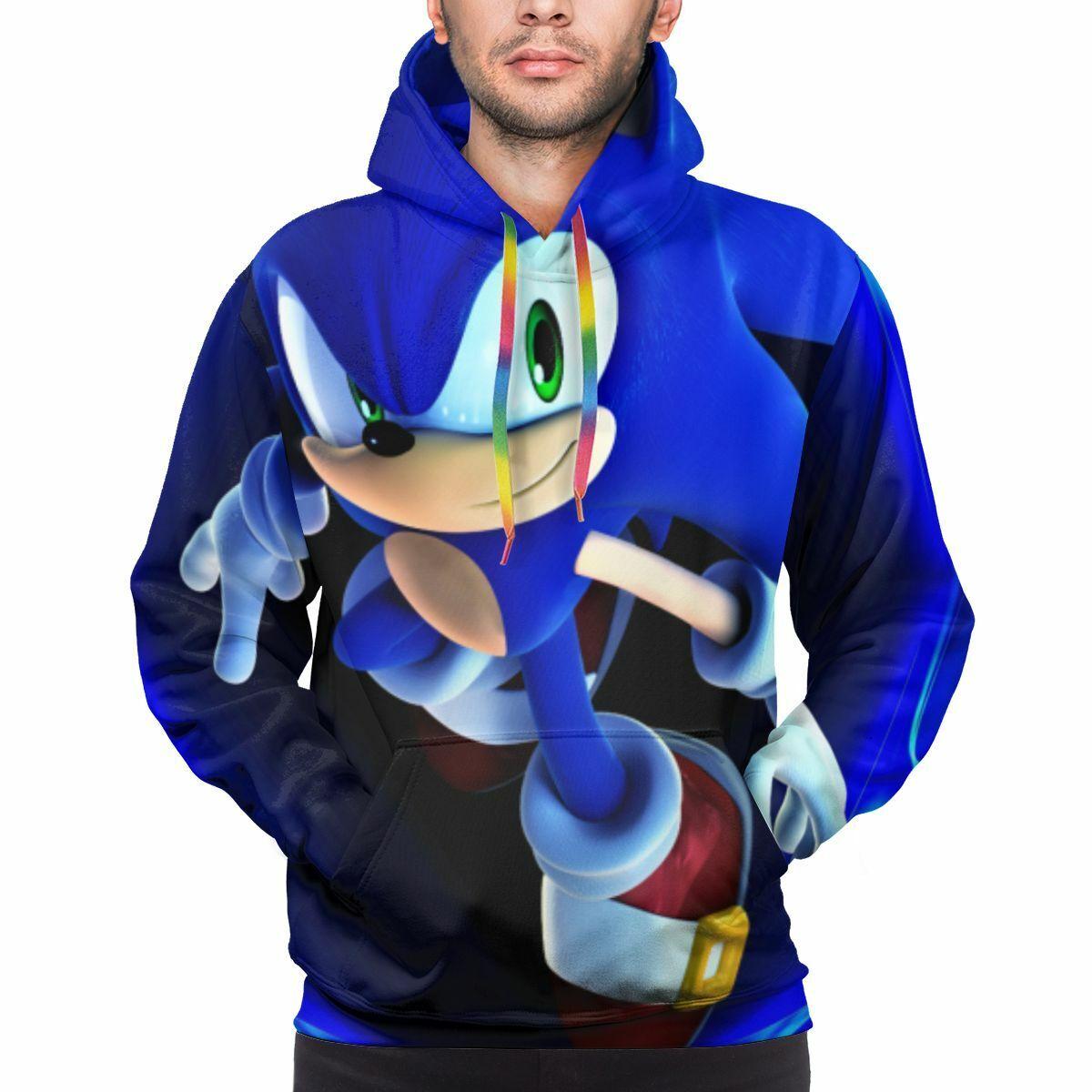 Sonic The Hedgehog Mens Hoodies Sweater Sweatshirt Pullover Jumper Mens Clothing Ebay