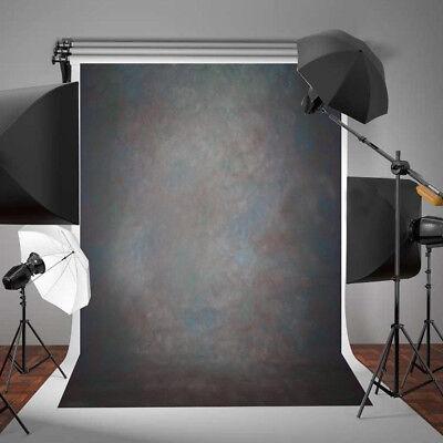 7x5FT Vinyl Black Grey Retro Studio Photo Backdrop Photography Background Props