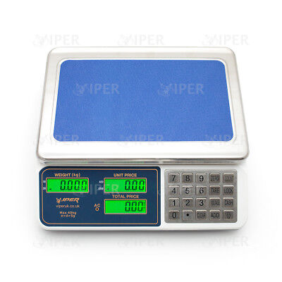 Viper Digital Scale Electronic Price Computing Weight Shop Market up to 40kg