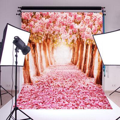 Fotostudio Hintergrund 1.5x2m Hintergrundstoff Stoff Kirschblüten Hochzeit  DE