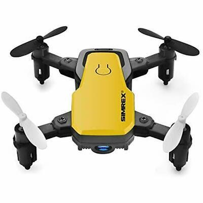 SIMREX X300C Yellow Mini Drone RC Quadcopter Foldable Altitude Hold OPEN BOX