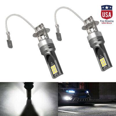 1PAIR Car H3 COB LED 14000LM Conversion Kit Bulb Fog Light Lamp Super White US