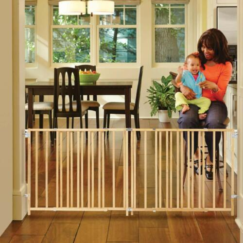 """North States 103"""" Wide Extra-Wide Swing Baby Gate: Perfect for Oversized Spaces."""
