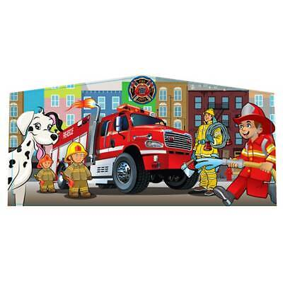 """Firefighters Modular Inflatable Bounce House Vinyl Art Panel Banner 10'3""""x5'  for sale  Shipping to Canada"""