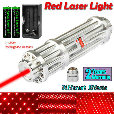 650nm Red Laser Pointer Pen 1-w Visible Beam Light Charger 21865o Battery Us