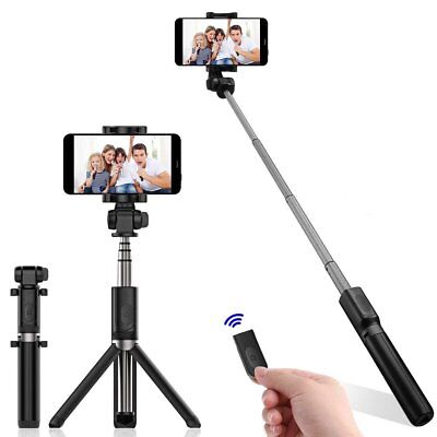 Mini Bluetooth Selfie Stick Stange Stativ Monopod Smartphone Handy Halterung 01