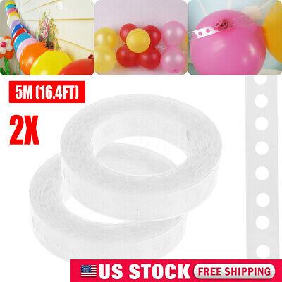 2 Rolls 17 Feet Balloon Arch Garland Decorating Strip Kit Balloon Tape Strips US - Balloon Arch Strip