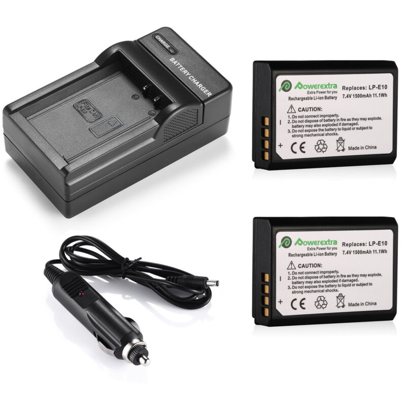 LP-E10 Battery + Charger For Canon Rebel T6 T5 T3 EOS 1100D 1200D