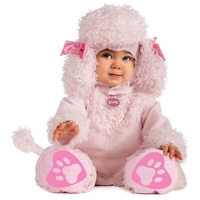 Baby Poodle Costume (Pink Poodle Costume Baby Puppy Dog Halloween Fancy)