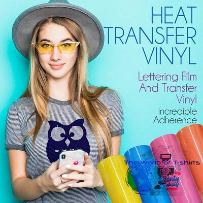 Htv Heat Transfer Vinyl Roll Pu Lettering Film Iron On Textile Black 12x1 Yrd