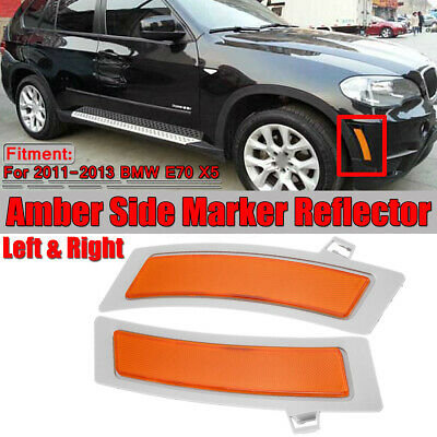 For BMW E70 X5 2012-2014 Pair Set of Rear Left /& Right Reflector-Bumper Covers