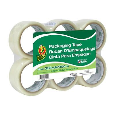 Duck Brand Standard Packing Tape Refill 6 Rolls 1.88 Inch X 54.6 Yard Clear