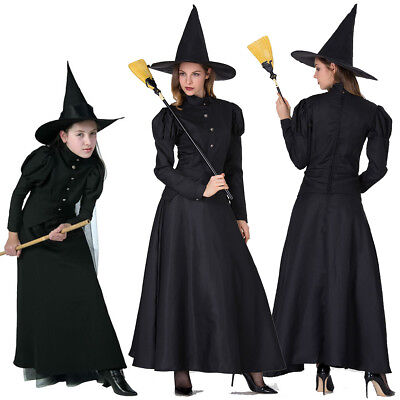Parents Baby Halloween Costumes (Halloween Witch Costumes Parent-Child Attire Cosplay Outfit Adult Fancy)