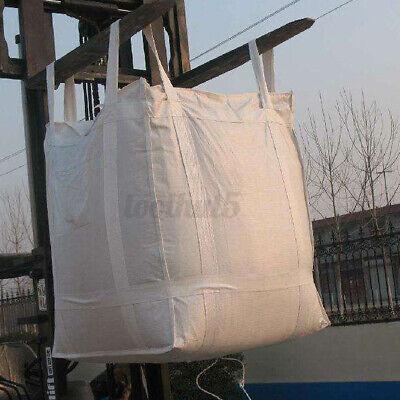 Heavy Duty FIBC Bulk Super Ton Bag 3300LBS Duffle Top Flat Bottom Sacks  USA