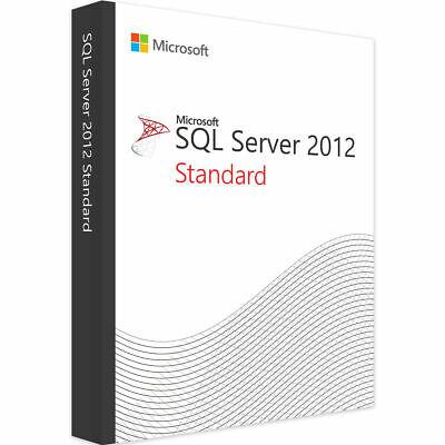 SQL Server 2012 Standard Product Key License MS 16 CPU Cores Genuine