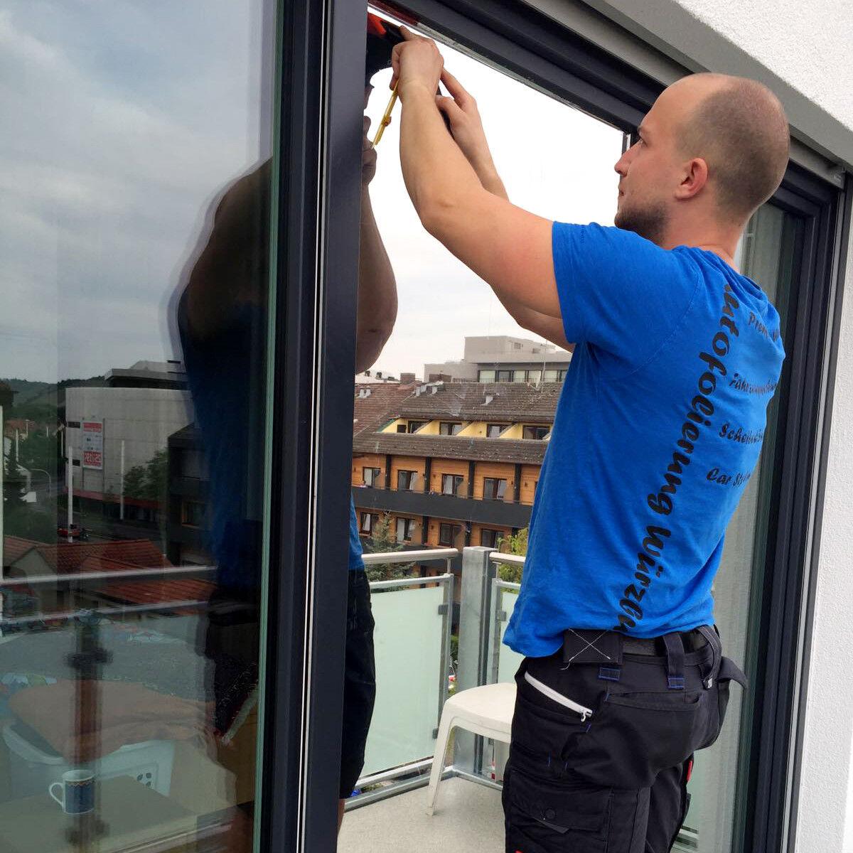 9,18€/m² Fensterfolie Spiegelfolie Silber FOLIE Sonnenschutzfolie UV Sichtschutz