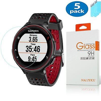 5x For Garmin Forerunner 225 220 230 235 [Tempered Glass] Screen Protector