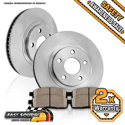 (Front 276mm Brake Rotors and Ceramic Pads 2004 2005 2006 2007 2008 CHEVY MALIBU)